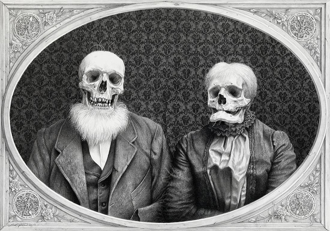 Laurie Lipton, pencil, drawing, the umpteenth anniversary