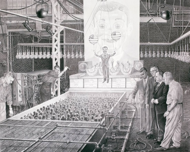 Laurie Lipton, pencil, drawing, democracy