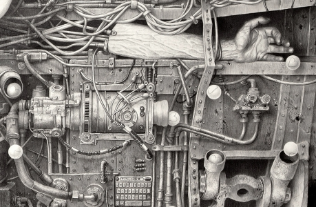 Laurie Liptondrawings, dystopia technology, contemporary art, drawing, pencil drawing, womens art, female artist